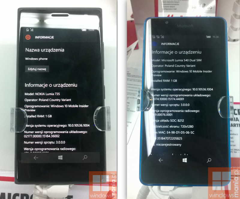 Selfmade Windows 10 Mobile Polen