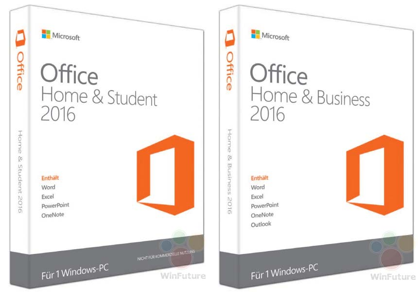 Office 2016 Verpackung