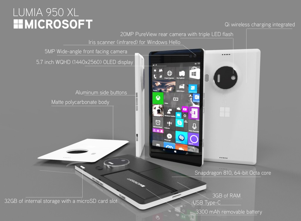lumia 950 XL Renders