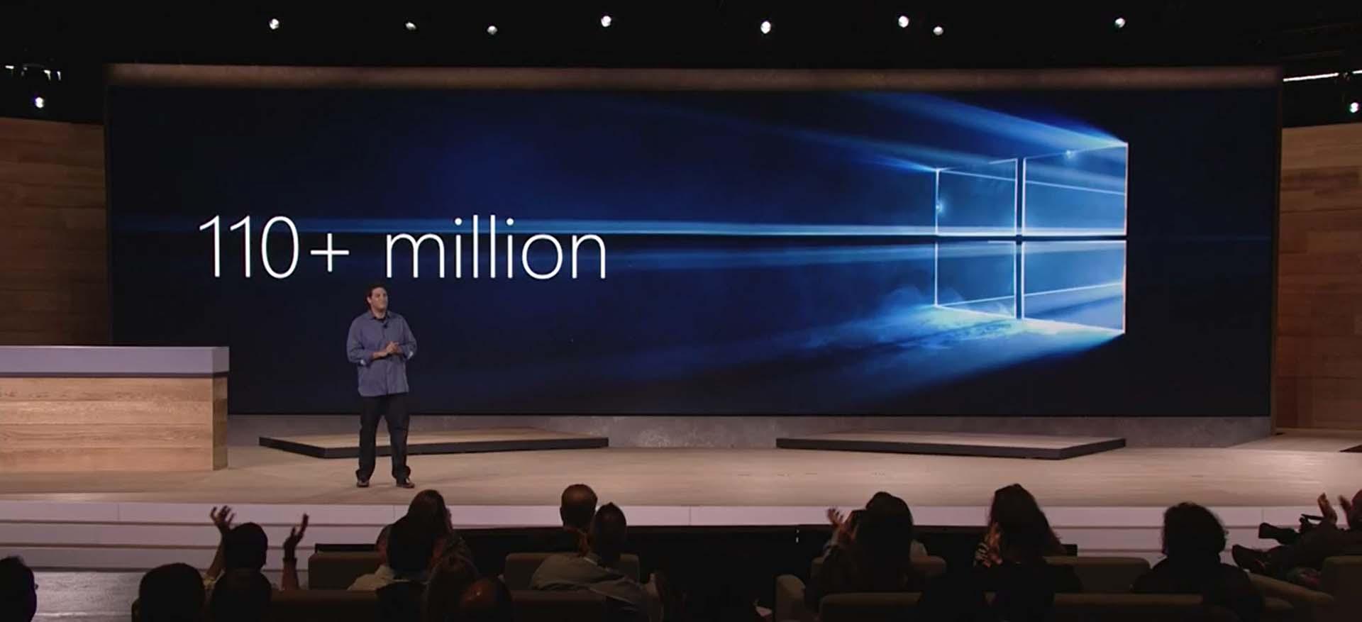 110+ millionen Windows 10 Installationen