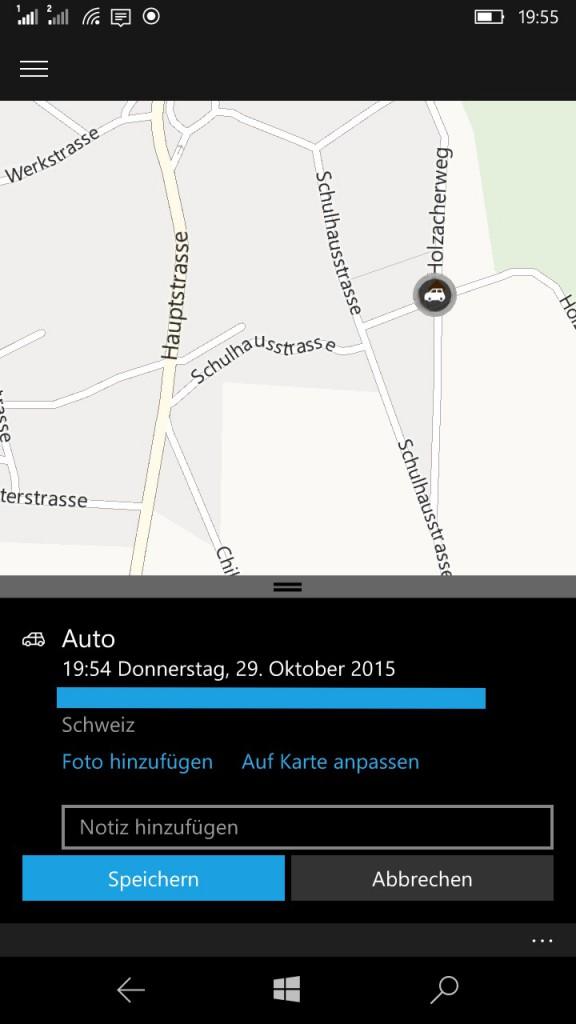 Auto Standort Karten App
