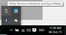Hardware sicher entfernen