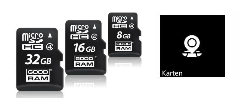 Karten auf MicroSD