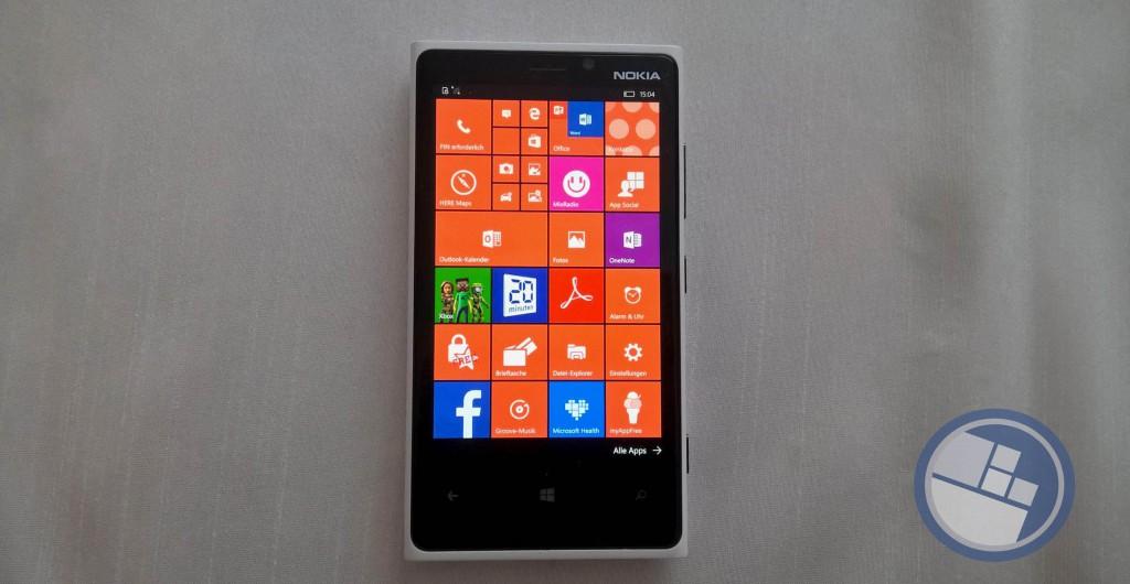 Lumia 920 4 Kacheln