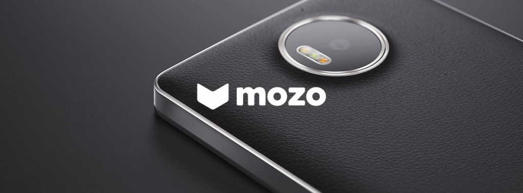 Lumia 950 Cover Mozo Leder schwarz