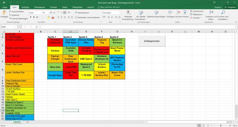 Microsoft-Event-Bingo