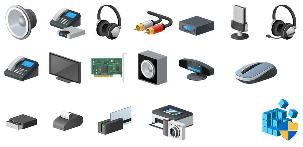 Neue Symbole Geräte