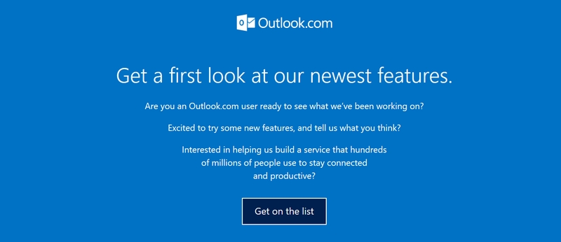 Outlook neues Design Warteliste