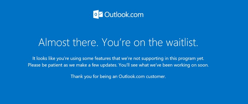 Outlook.com Almost there