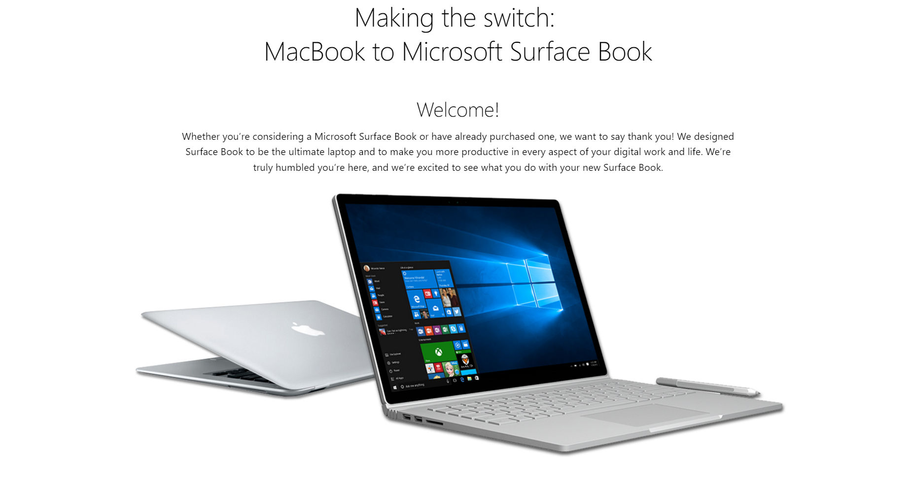 Macbook Pro zu Surface Book