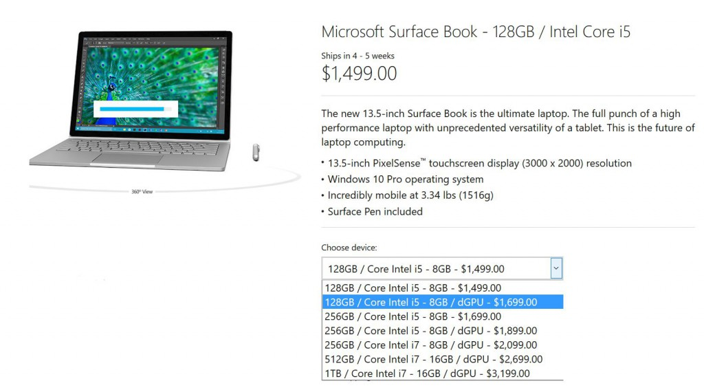 Surface Book mit GPU