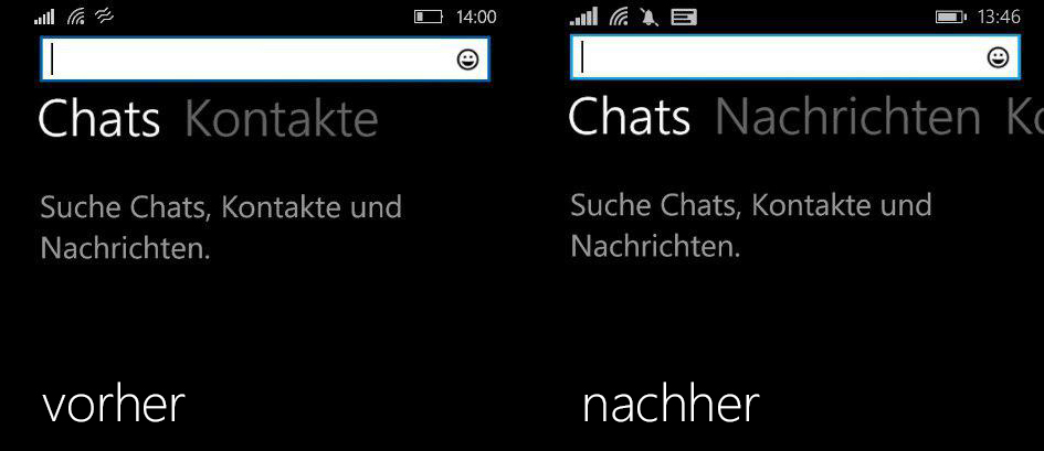 WhatsApp-Update-Suchfunktion