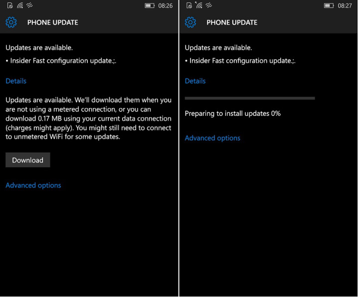 Windows 10 Mobile Update