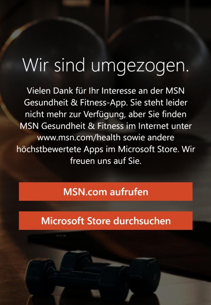 MSN Gesundheit umgezogen