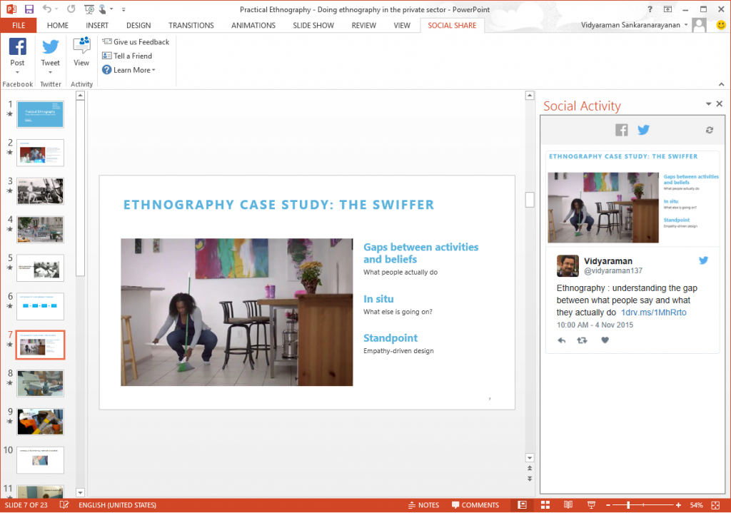 PowerPoint Social Share