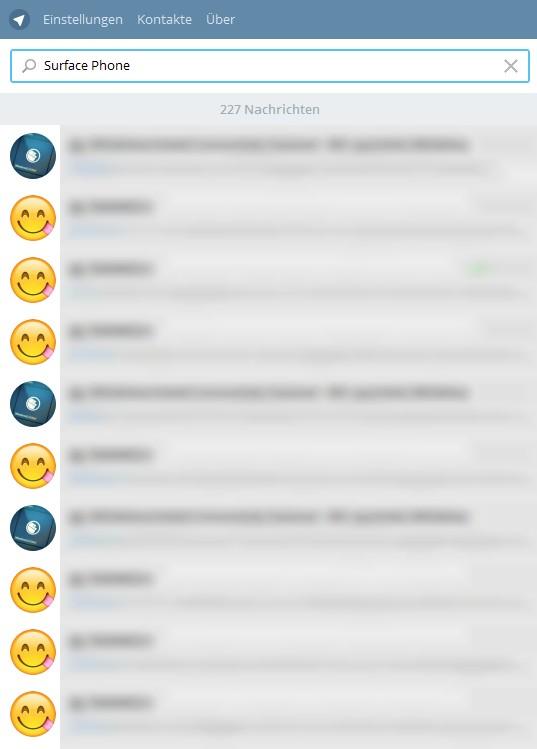 Suchfunktion Telegram