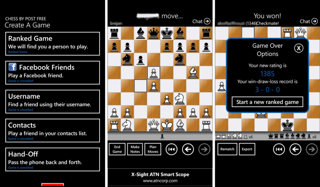 Chess-by-Post-free-Windows-Phone
