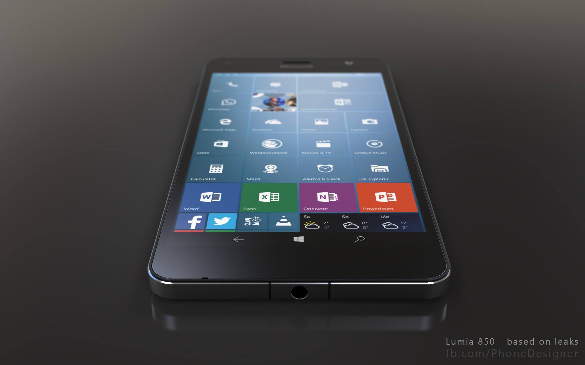 Lumia 850 Render 2