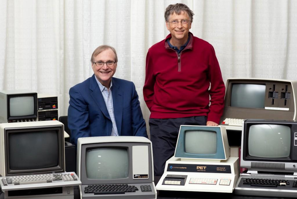 Im Bild: Paul Allen und Bill Gates