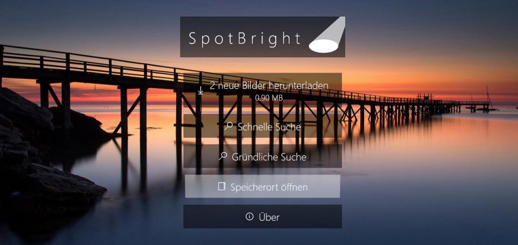 SpotBright Speicherort öffnen