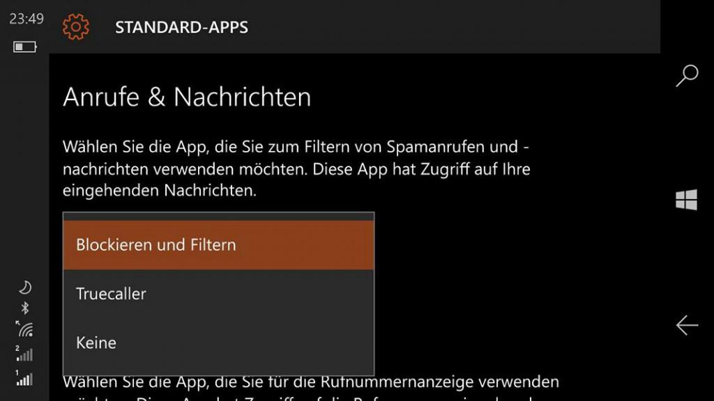 Standard-Apps auswählen