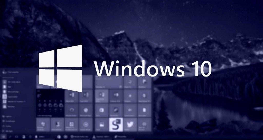 Windows 10 blau