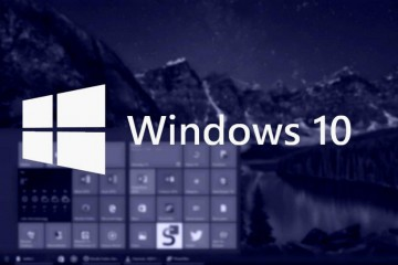 Windows 10 blau