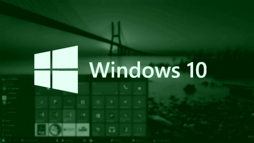 Windows 10 green