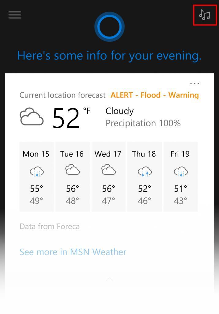 Cortana Musik Suche Phone