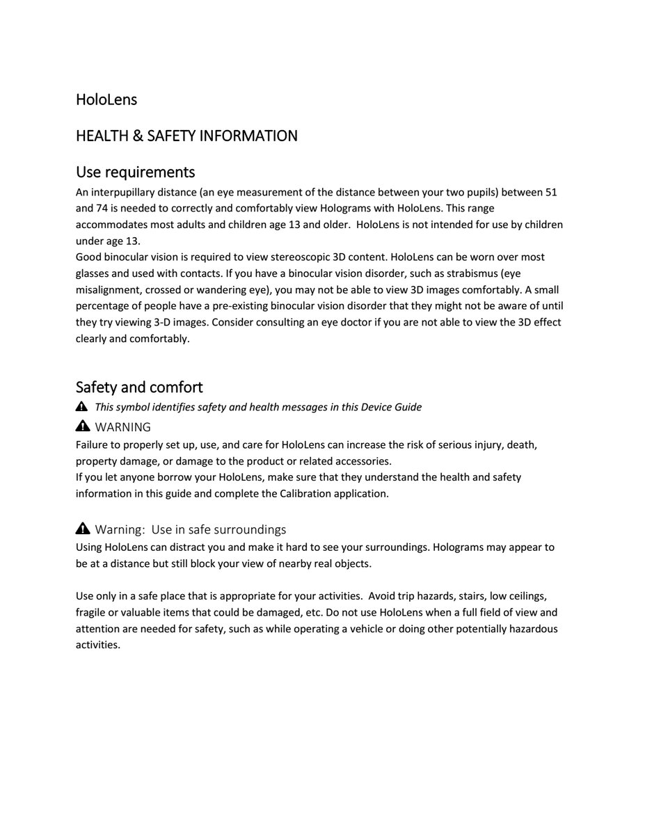 HoloLens-Health-And-Safety-Information