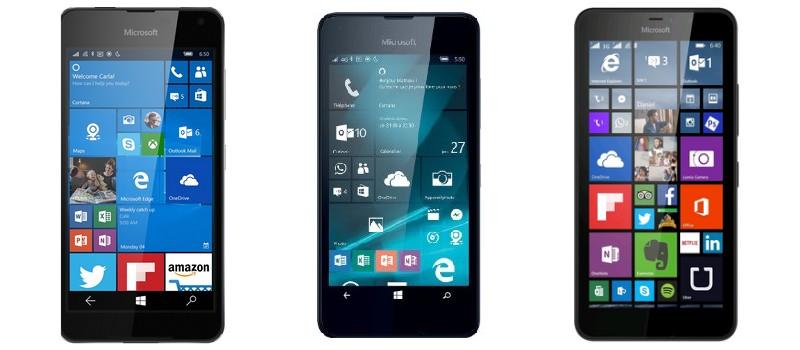 Lumia 650, 550, 640