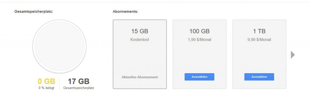 Speicher Google Drive