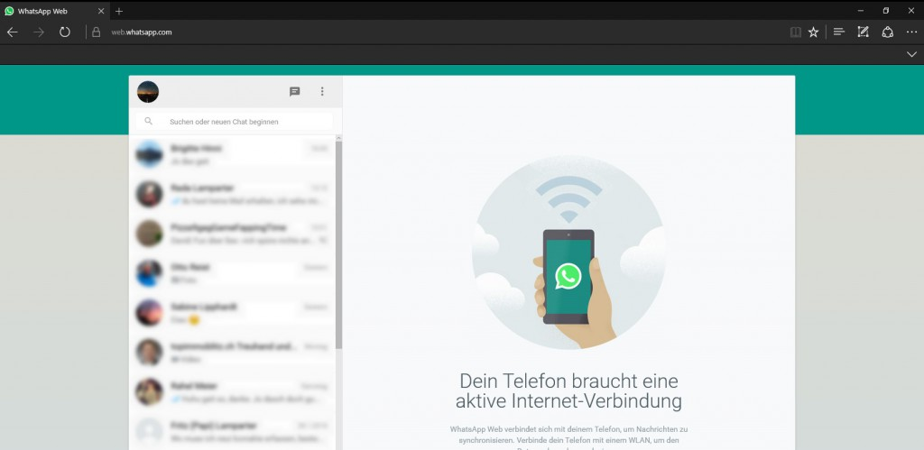 WhatsApp Web @ Edge