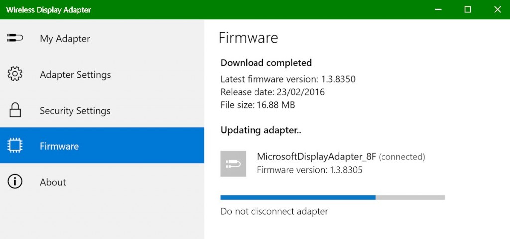 Wireless Display Adapter Firmware Update