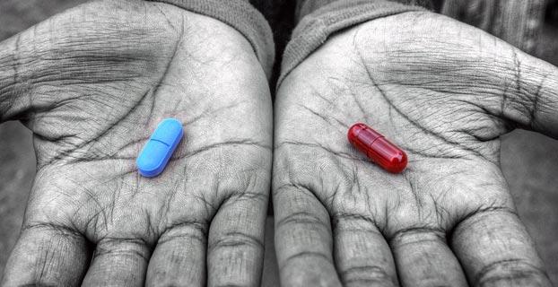 Microsoft blaue pille rote pille