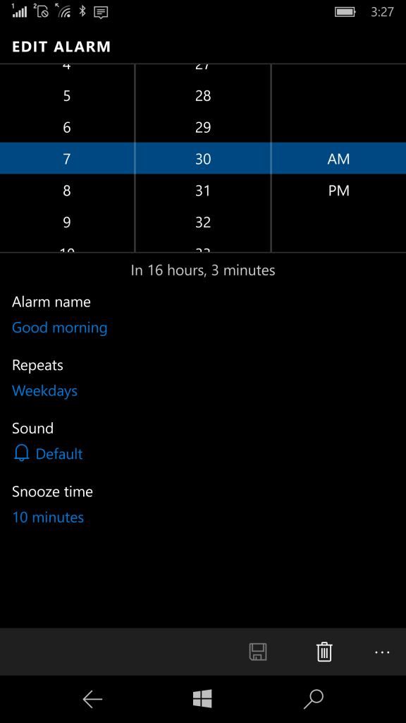 Alarm und Uhr