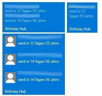 Birthday Hub LiveTile