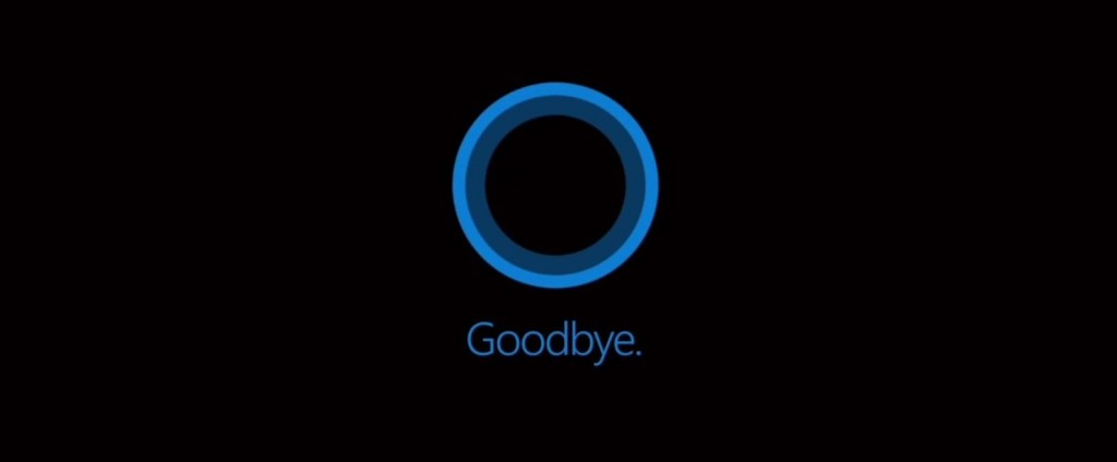 Cortana Goodbye