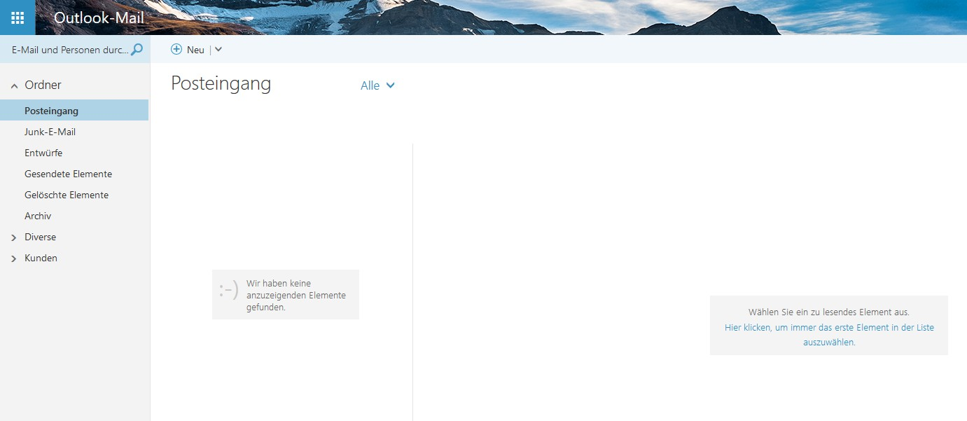 Das neue Outlook.com.