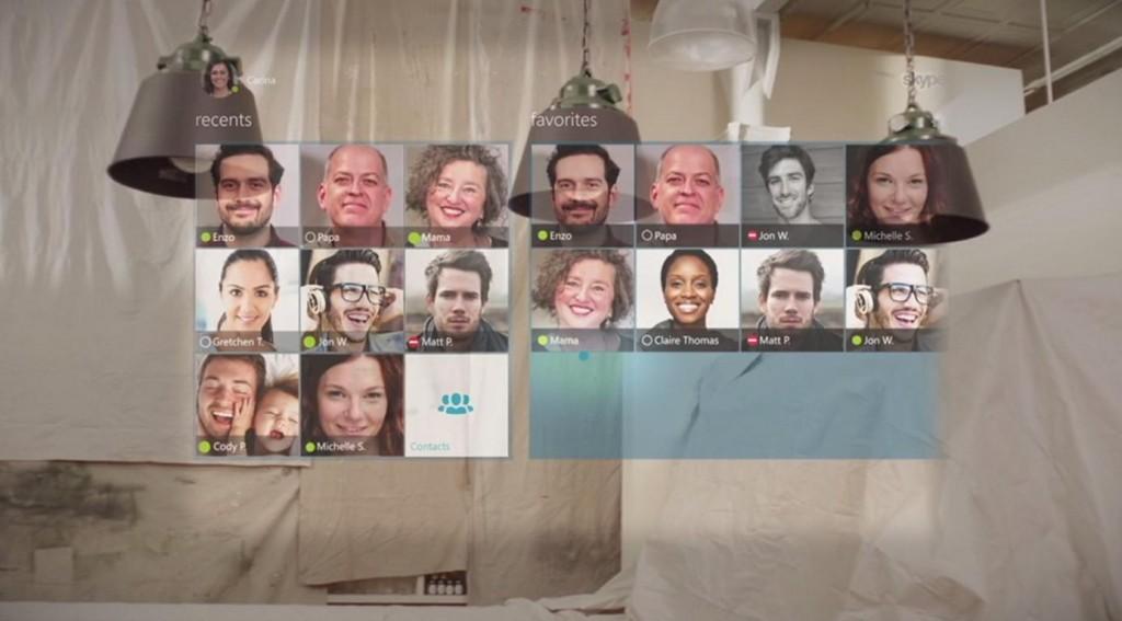 Skype Hololens 1