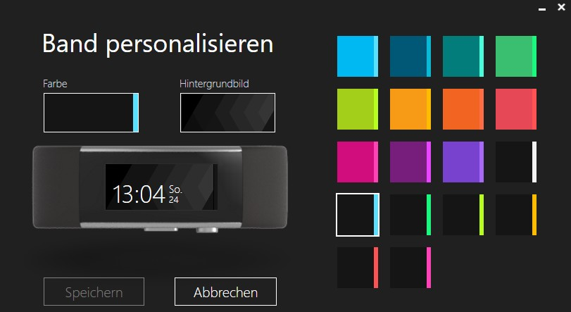 Band personalisieren Sync Tool