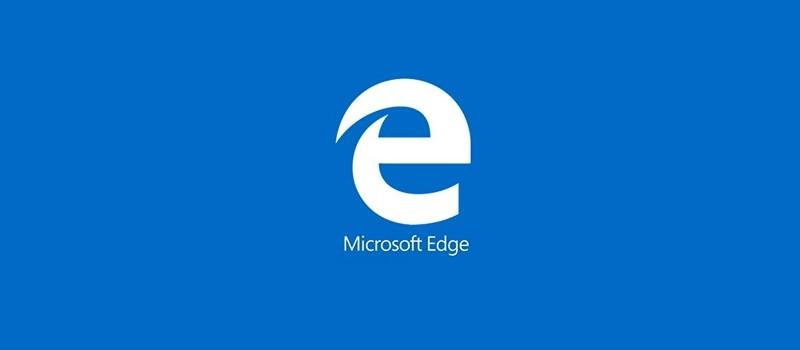 Microsoft Edge blau