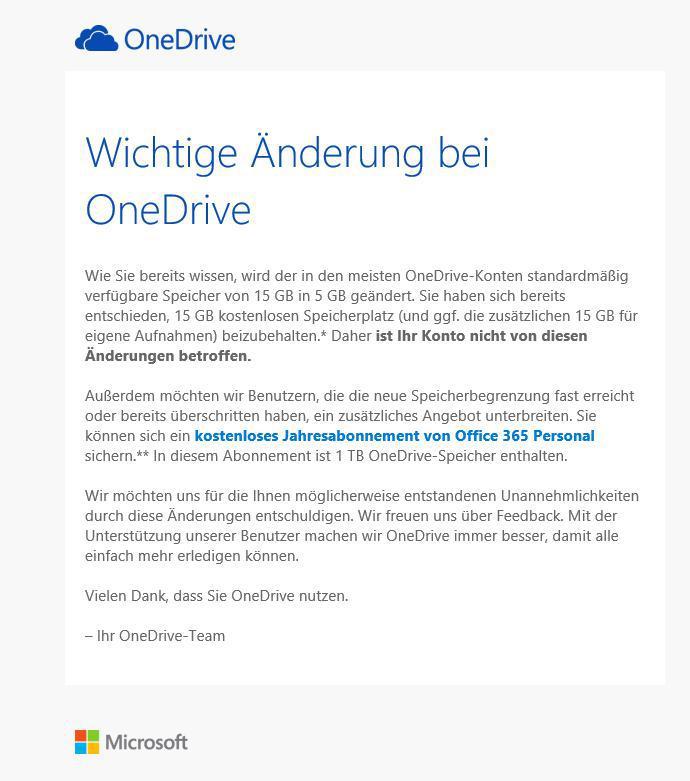 OneDrive Info