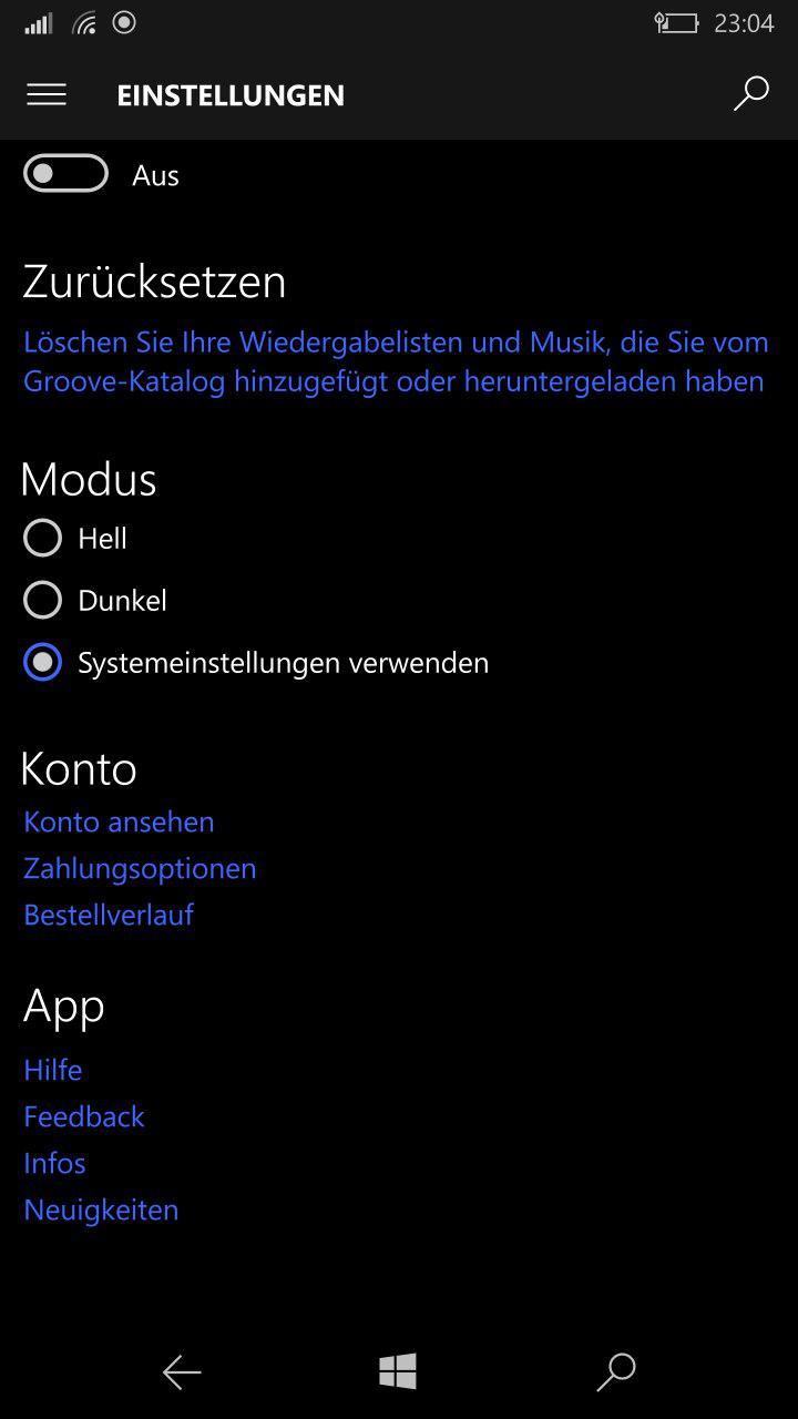 Groove Music Player Erhält Mit Der Windows 10 Mobile Build