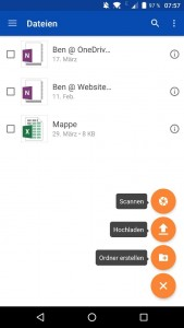 onedrive android office lens Business