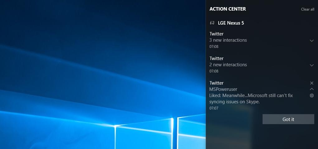 Cortana Benachrichtigungen Android