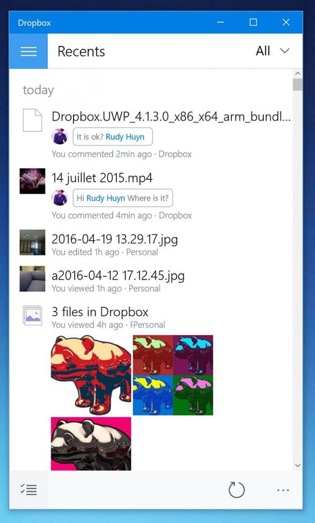 Dropbox kürzlich