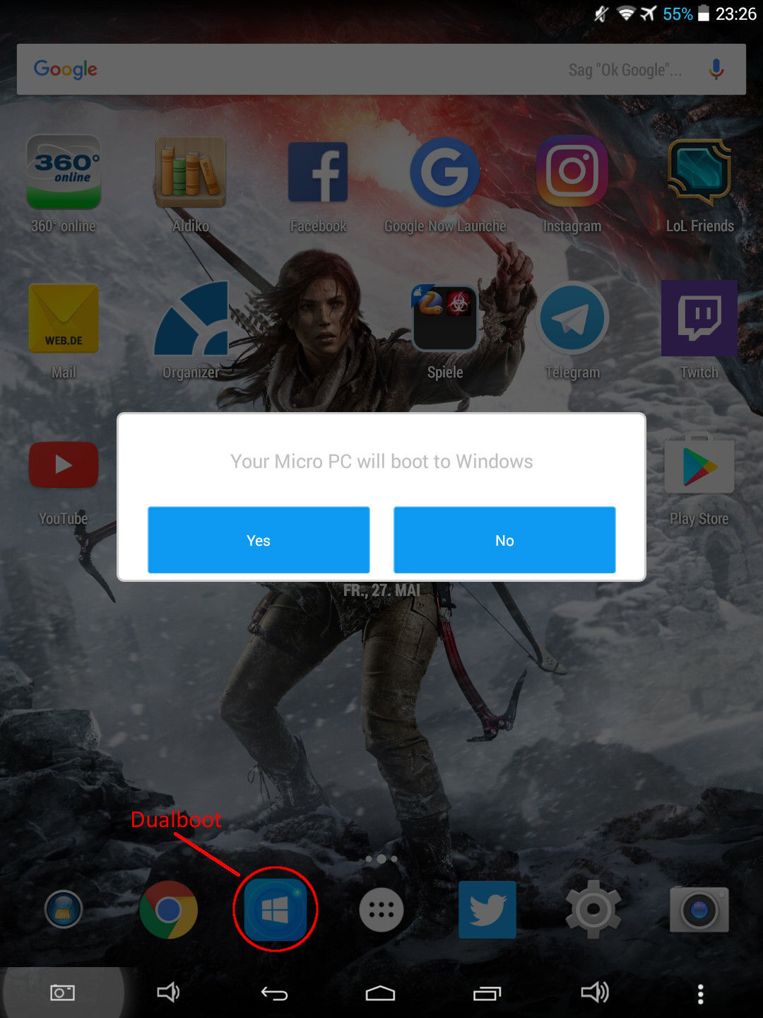 Dualboot Android - Windows