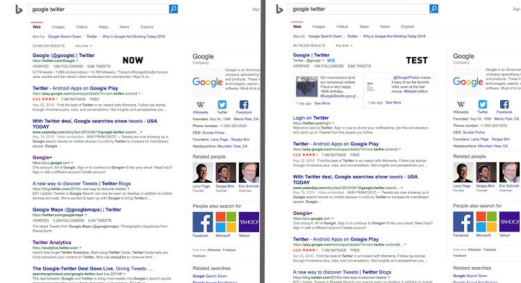 K800_Bing tests show tweets in search results