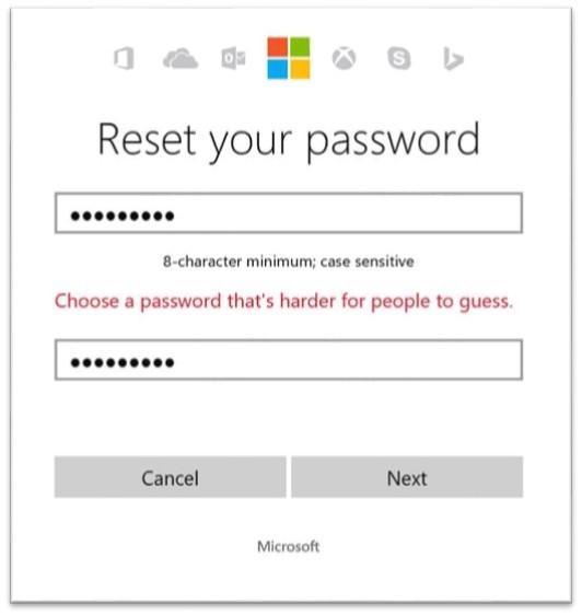 Passwort Microsoft